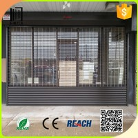 Stainless steel and aluminum ventilation grille rolling door/ commercial shopfront rolling shutters