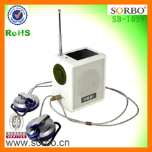 Solar Dynamo FM AM Portable Radio with ABS Case and CE RoHS approved