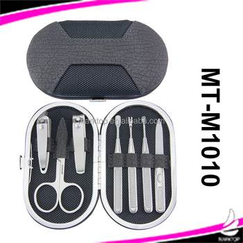 7PCS metal pocket stainless steel manicure kit for travel