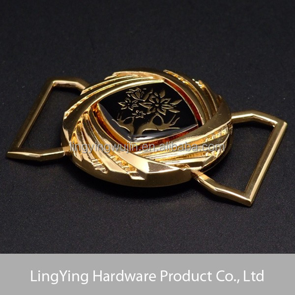 Retro lady wasit interlocking belt buckle