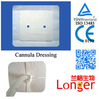 Breathable Medical Nasal Oxygen Cannula Dressing.