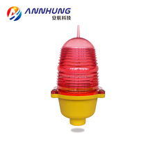 HOT SALE LED low intensity red aviation obstruction light/aircraft warning light for telecom tower chimney