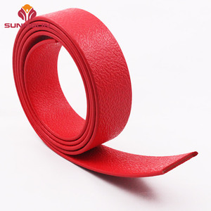 Flame proof red TPU plastic coated webbing strap