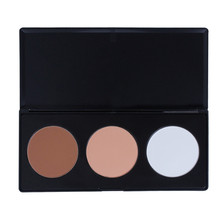 Natural Face Powder Cosmetic 3 color High Quality Compact Powder