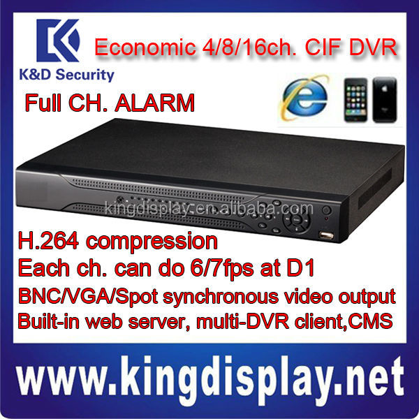 Dahua H.264DVR mobile phone Free software DVR0404LE-AS/DVR0804LE-AS/DVR1604LE-AS Realtime Each channel 25/30fps at CIFor6/7f POE