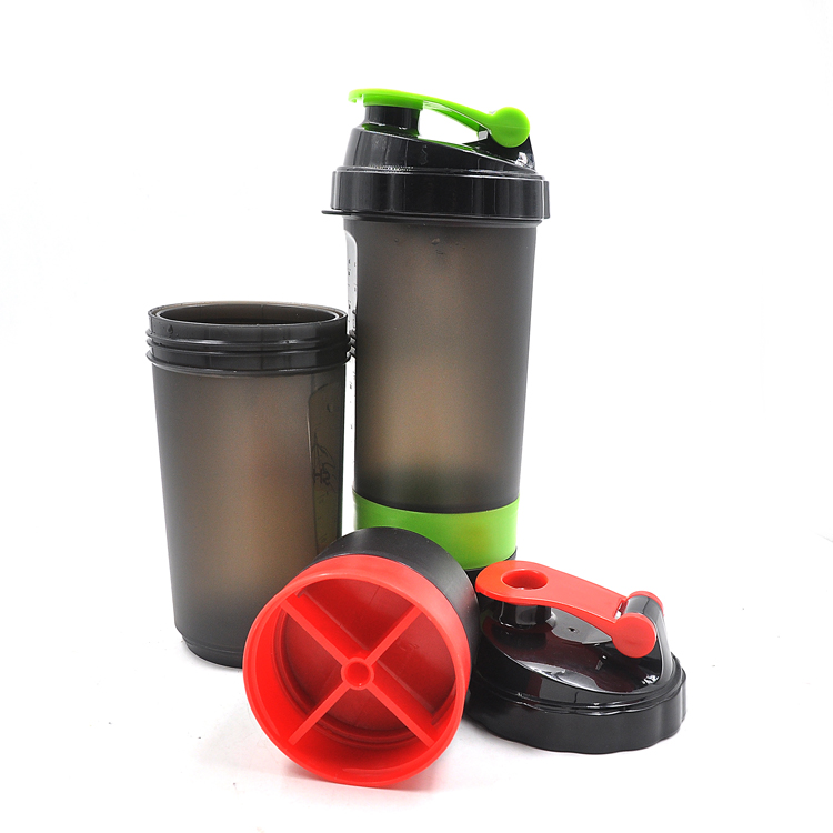 3 in 1 600ml Protein Shaker Sports Drink Supplements Custom Mix Colors