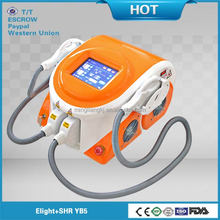 2016 best technology portable IPL OPT Elight sapphire machine laser for hair removal skin care