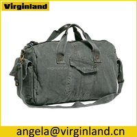 6008 Large Size Durable Grey Canvas Sport Bag Travel Bag for Men