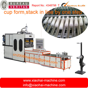 HAS VIDEO Automatic Plastic Thermoforming Machine And Stacking Machine