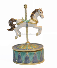 swivel carousel horse music box luxury gift Valentine's/Christmas/New year/birthday gift musical box