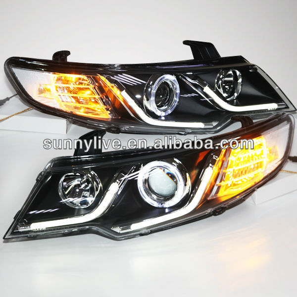 For KIA Forte Cerato LED Angel Eyes Headlight 2009 - 13 year V2 Type LF