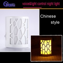 Chinese style sound and light control lights led night light