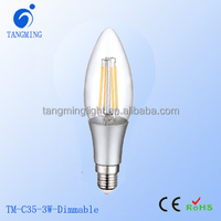 360 Degrees Taiwan Epistar LED Filament Chip dimmable 4Watt E14 LED Candle Light Bulbs