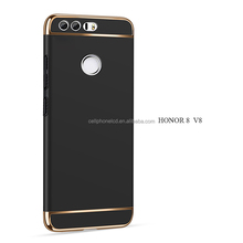 Electroplate Metal Texture Bumper Slim Fit Plastic Hard Back Premium Case Cover & Skin for Huawei Honor 8 V8