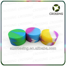 2014 new products nonstick food grade small/large silicone jars dab wax container with export packaging