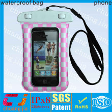 Armband sports pvc waterproof bag for phone with earphone