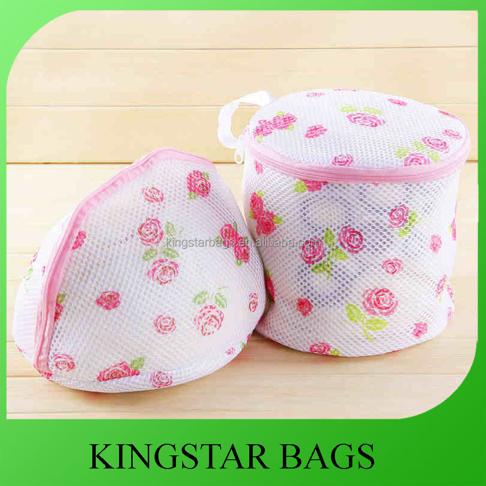 Custom Printed Pink Bra Laundry Bag