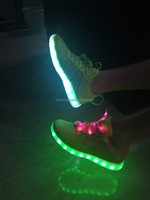 Super light weight chaussure led flashing lights shoe new design
