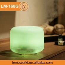 LM-168G 500ML 24V Essential Oil Diffuser Real Natural Wood Base Ultrasonic Aroma Diffuser