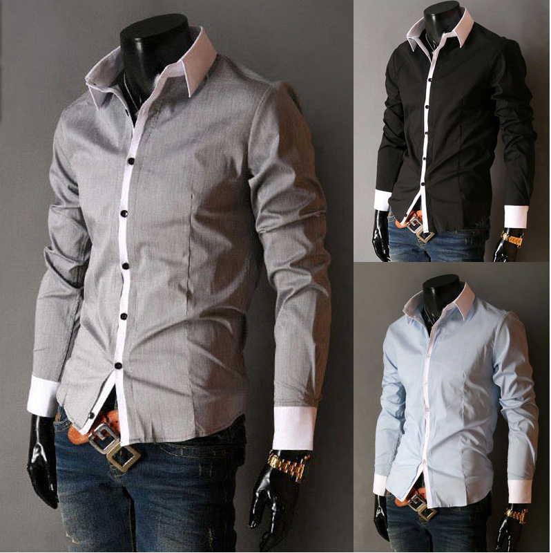 OEM embroidered button down classic check mens casual shirts