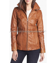Classic Zip Leather Scuba Jacket Regular and Petite AP-1306