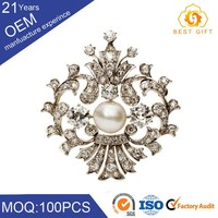 New upmarket bride diamond flower brooch for bouquet made in China