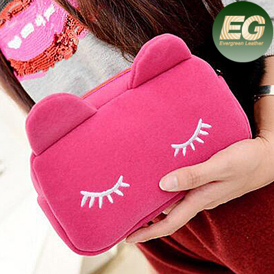 HOT korean cosmetic bag fashoin ladies cosmetic bag promotion cat bag SY6727