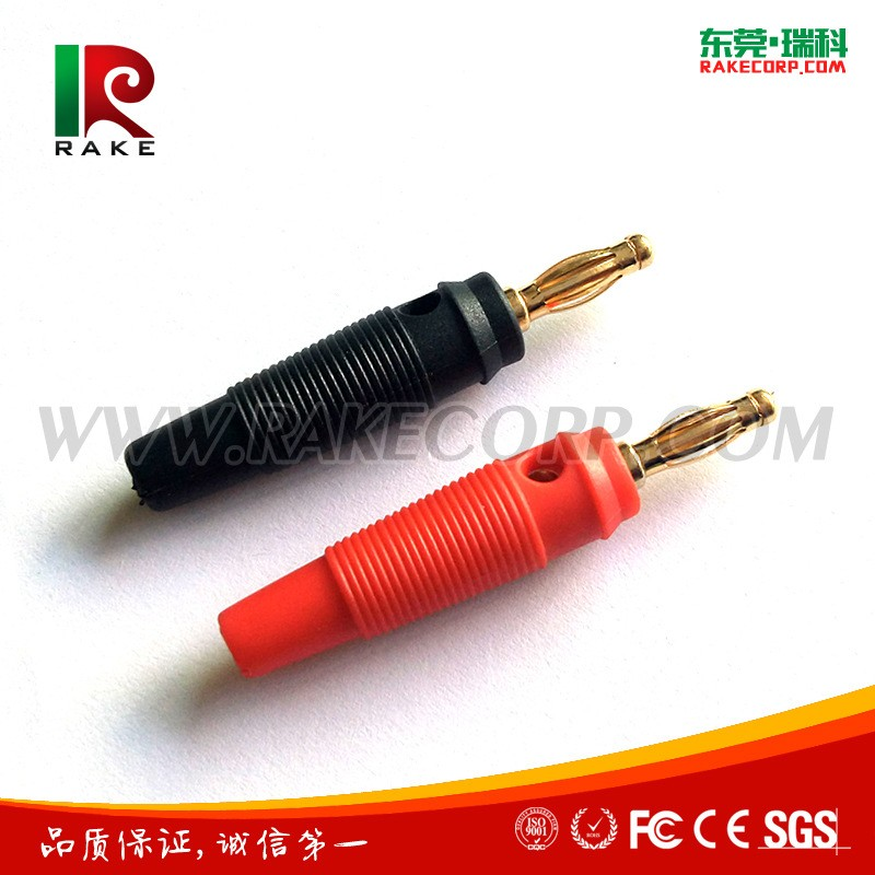 4mm Gold Plated Banana Plug with Silicone Housing Rc Battery Banana Connector