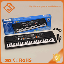 Best quality children education 61-key plastic black electric piano