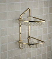 Classic golden Bathroom Rack,Double Tier Bathroom Accessories