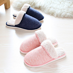 Women Winter Plush Bedroom Slippers Warm Indoor Comfortable Anti-Slip Floor House Slippers