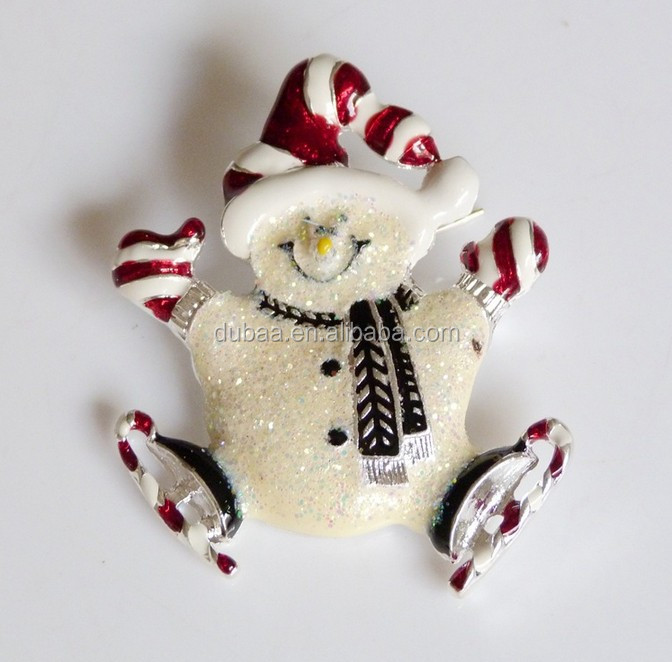 Pretty Christmas Gift Exquisite Colorful Enamel Nice Cute Snowman Brooch