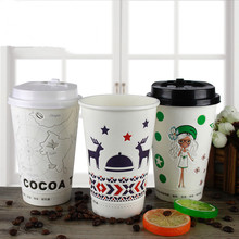 Disposable cup 3D stereo laugh paper cup signature thickening custom