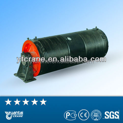 Wire rope winding rotating drum