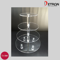 4 Tiers Acrylic Cupcake Stand Wedding Party Birthday Bakery Cake Tower Display Stand