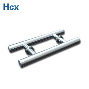 304SUS tempered glass door handle for bathroom