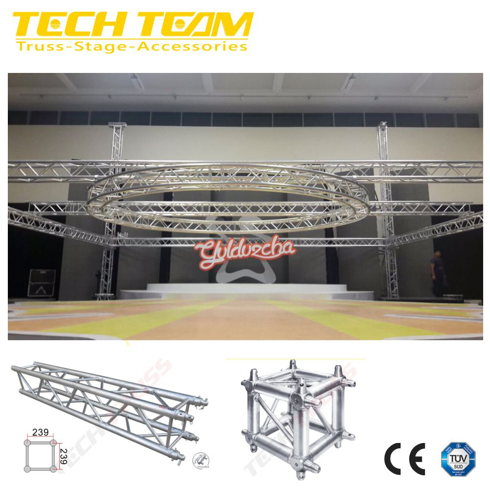 Used Aluminium Square Circle Bolt truss For Mini Event Show or Exhibition