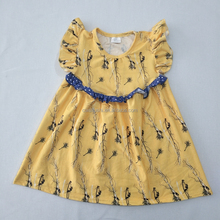 Wholesale Plant Pattern Baby Girls Party Dress Design Children Summer Frocks