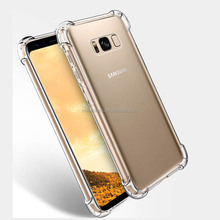 Shock Proof Ultra Thin Transparent Soft TPU Phone Case Back Cover For Samsung Galaxy S8 S8 Plus
