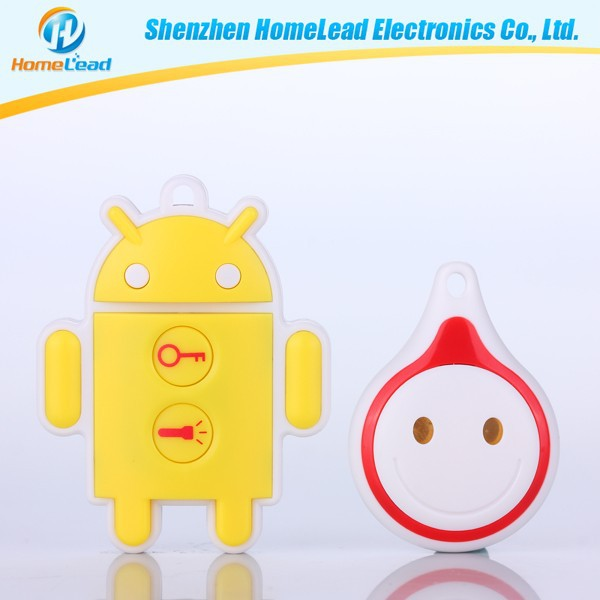 Electronic products, mobile phone robot the beep sound and LED flashes light anti lost alarm key chain whistle key finder