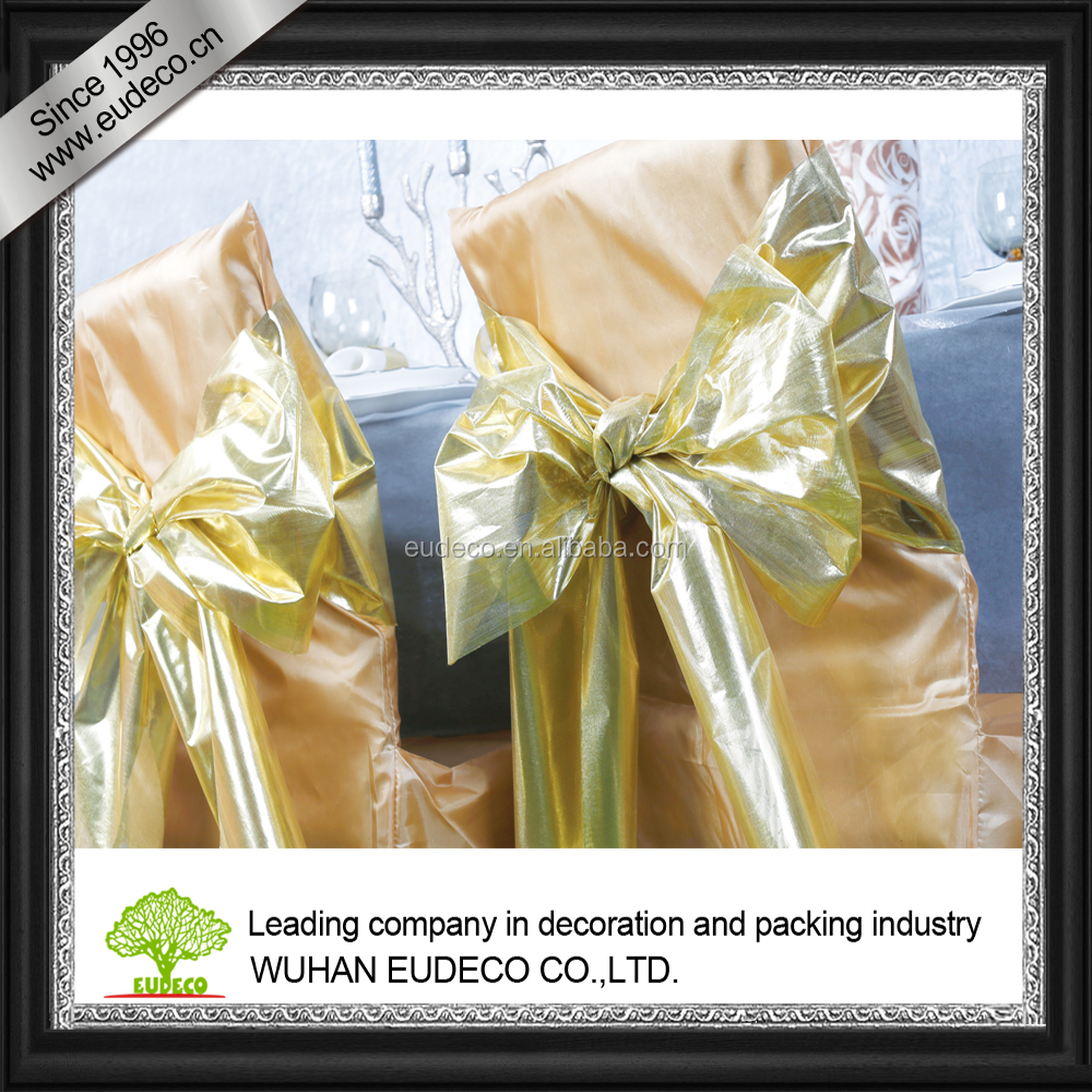 organza sash for wedding decoration