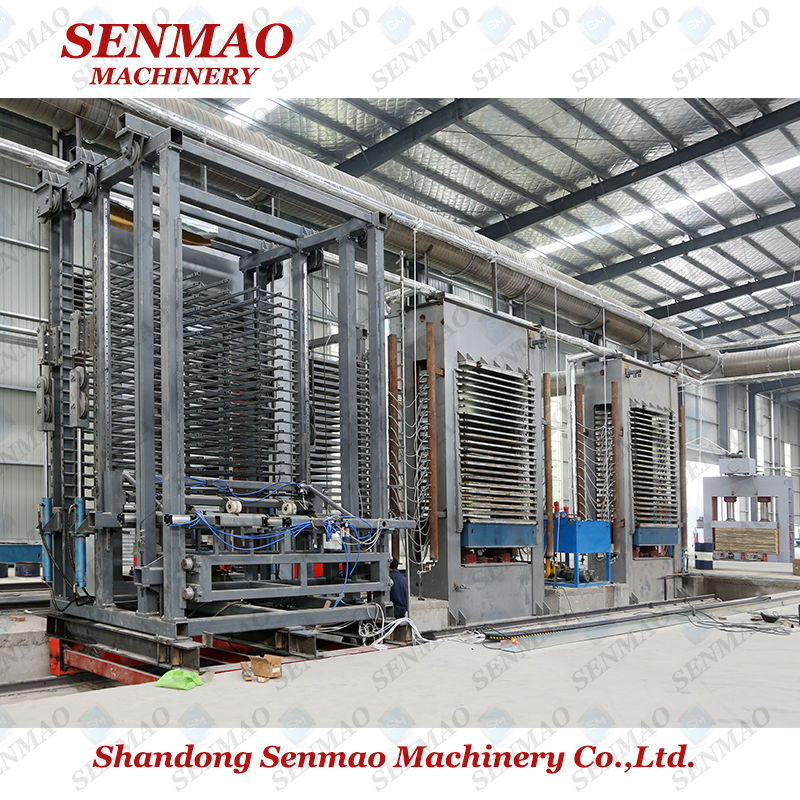 hydraulic mesin hot press/ plywood making line/ plywood production line from SENMAO
