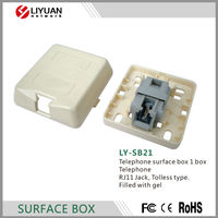 LY-SB21 Telephone surface box 1 box Telephone RJ11 Jack, Tolless type.Filled with gel