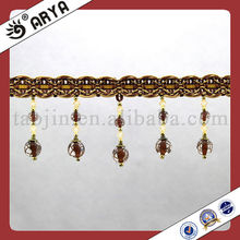 Fancy Bead Tassel Fringe for Curtains,Trims for curtains,Trimming Fringe and Textile Accessory