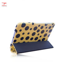 New Arrive! High Quality Flip Cover PU Leather Case For ipad mini,deluxe hot lovely folding case with stand for ipad mini
