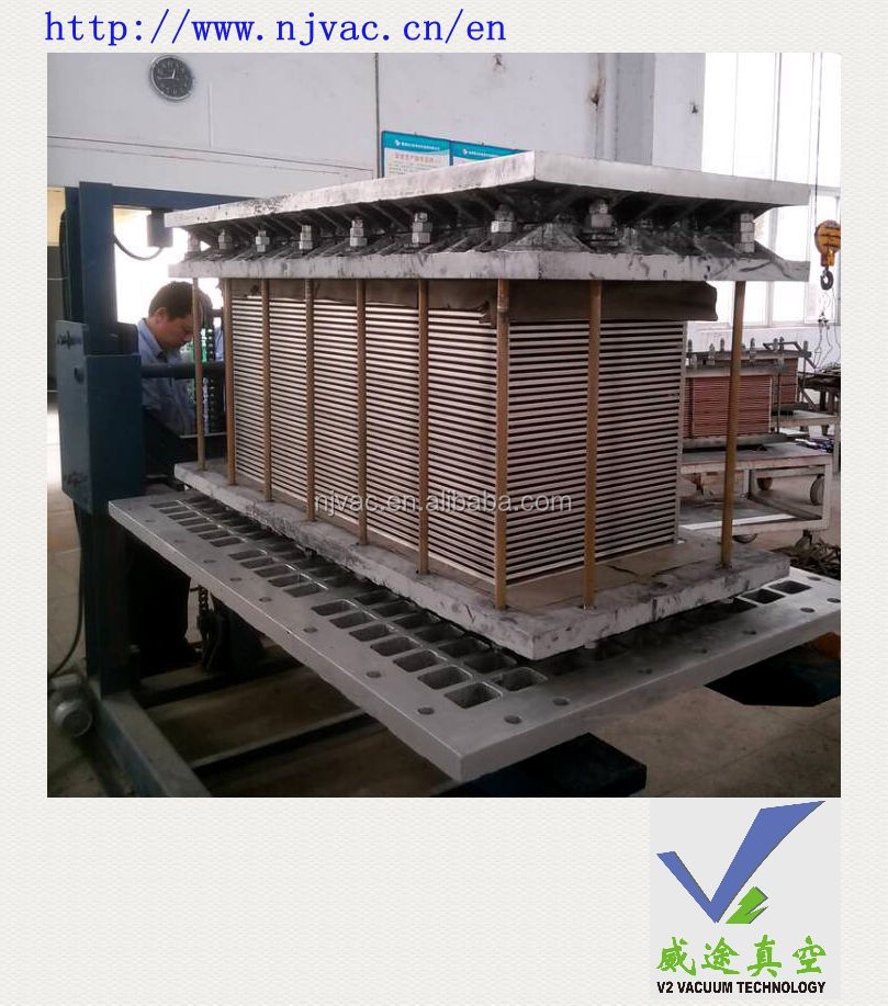 High temperature vacuum brazing furnace used for plate fin engine oil cooler