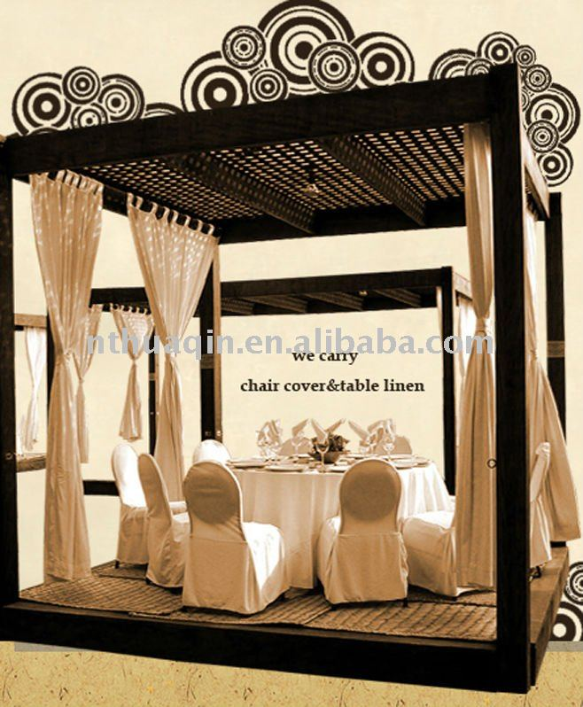 polyester chair cover and table linens for wedding and banquet