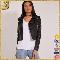 OEM factory price genuine leather jacketfinished cow hide genuine leather jacket for