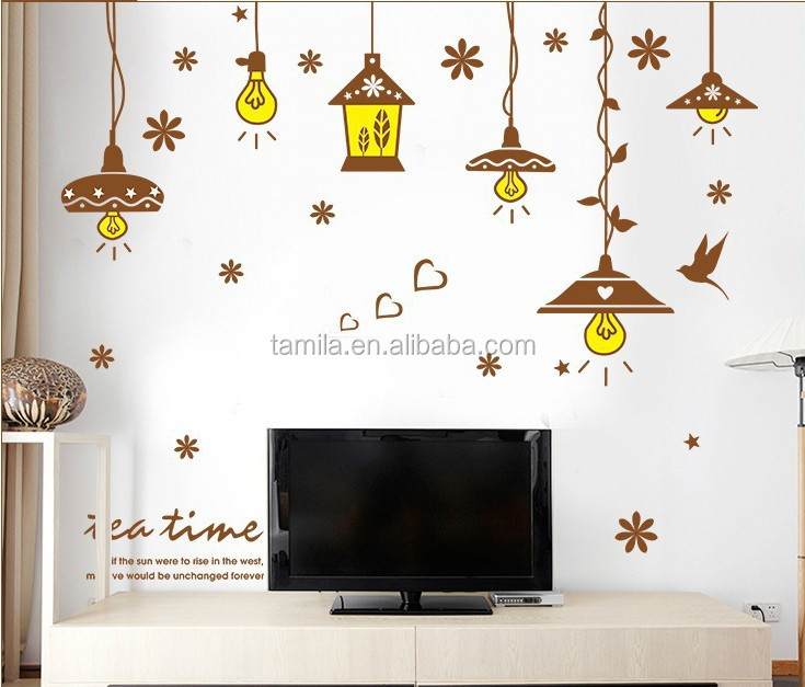 PVC Droplight Pendant Lamp Wall Paper Poster Sticker