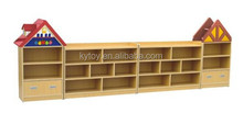 Kids wooden storage toy cabinet,used daycare furniture sale